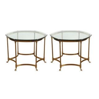 Vintage Maison Jansen Style Side Tables - a Pair