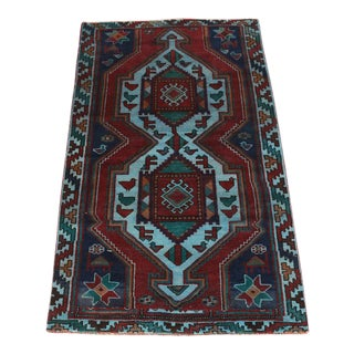 Antique Hand-Knotted Pak-Shirvan Rug - 4′3″ × 7′2″