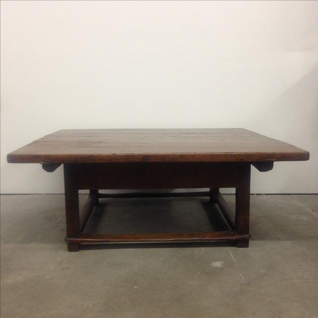 Antique Austrian Coffee Table With Drawer