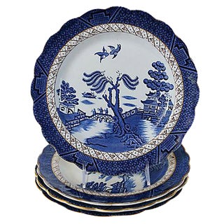 English Willow Dinner Plates- Set of 4