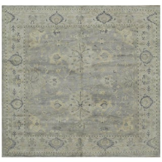 Surena Square Hand Knotted Oushak Rug - 7' 10'' x 7' 10'