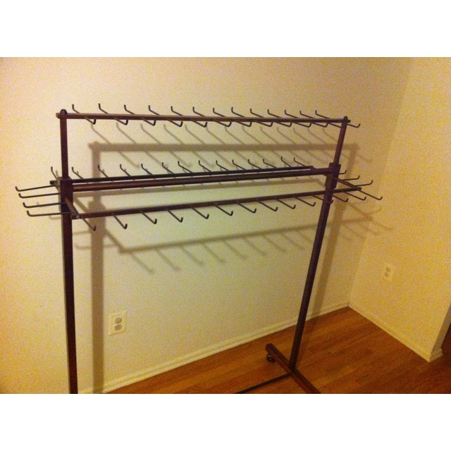 Industrial Two Tier Copper Rack Stand - Image 8 of 10