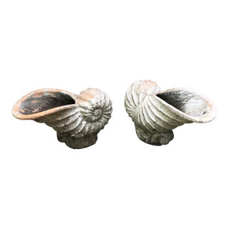 Shell Planters - A Pair