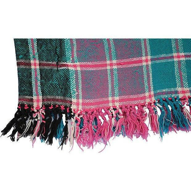 Vintage Moroccan Cotton Blanket - Image 6 of 6