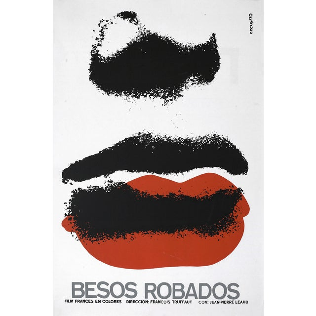 """Stolen Kisses"" Cuban Serigraph Poster - Image 1 of 2"