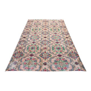 Vintage Amp Used Pink Traditional Handmade Rugs
