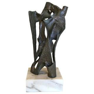 Brutalist Abstract Bronze Sculpture