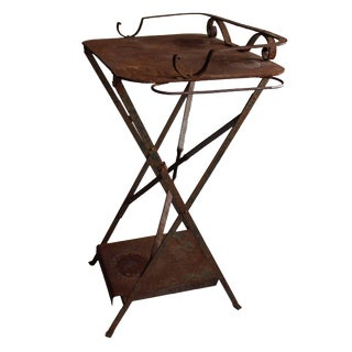Weathered Outdoor Table/Plant Stand