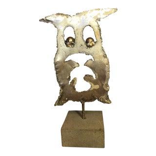 Italian Metal Owl Sculpture Scultore by Puccio Giachetti