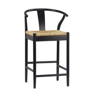 Black Woven Oak Counter Stool