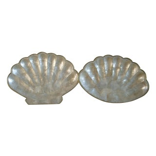 Capiz Shell Serving Pieces - A Pair