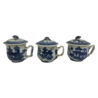 18th C. Chinese Blue Canton Teacups