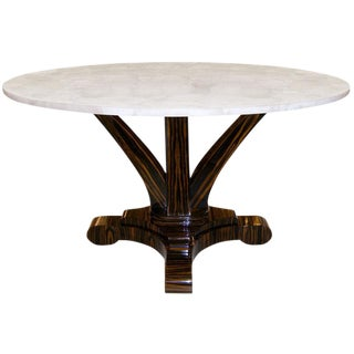 Delfine Macassar Ebony Table with Rock Crystal Top
