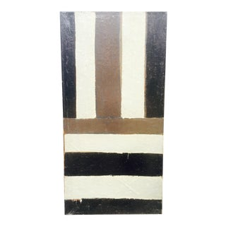 Abe Lubelski Geometric Abstract Painting, 1979