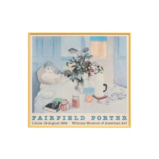 1984 Fairfield Porter Art Framed Exhibition Poster