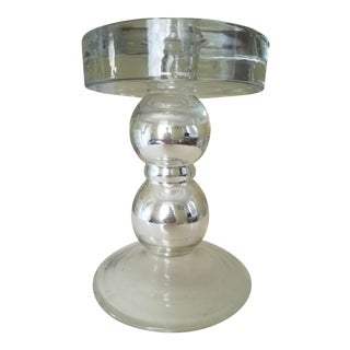 Mercury Glass Candle Holder