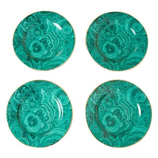 Neiman Marcus Malachite Plates - Set of 4