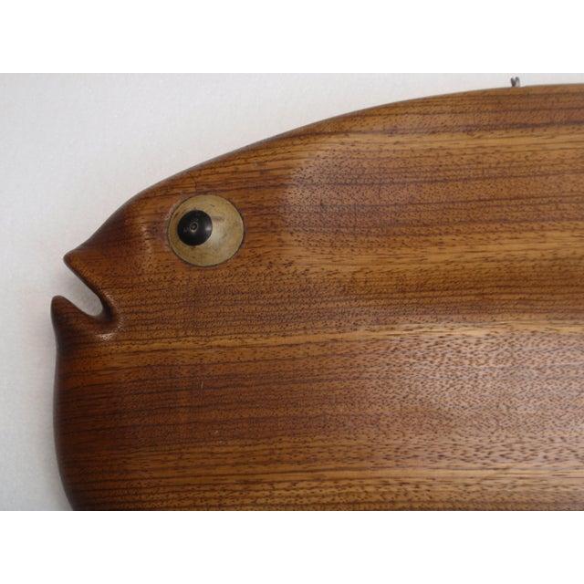 Modernist Folk Art Hand Carved Teak Wood Fish - Image 4 of 6