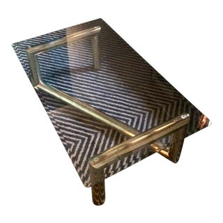 Tubular Brass and Glass Midcentury Modern Coffee Table