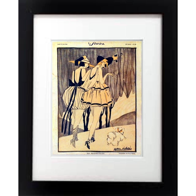 "Original 1920 ""En Promenade"" Fashion Print - Image 1 of 9"
