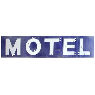Giant 1930's Porcelain Sign Motel