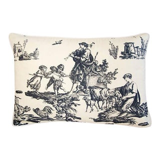 """23"""" X 16"""" French Countryside Toile Feather/Down Pillow"""