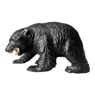 Carved Wooden Black Bear