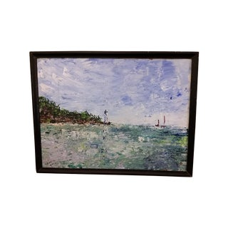 P. L. Buckley 1957 Oil Seascape Painting