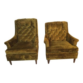 Kroehler Mid-Century Club Chairs - A Pair