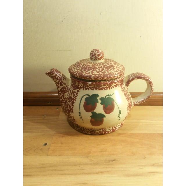 Ceramic Speckled Strawberry Motif Pitcher & Bowls - Set of 5 - Image 4 of 8