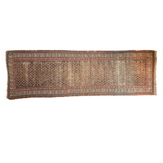 "Antique Caucasian Soumac Rug Runner - 3'8"" x 11'3"""