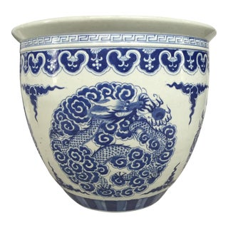 Blue and White Chinoiserie Planter