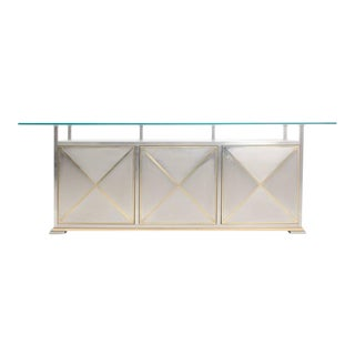 Maison Jansen Credenza with Floating Glass Top