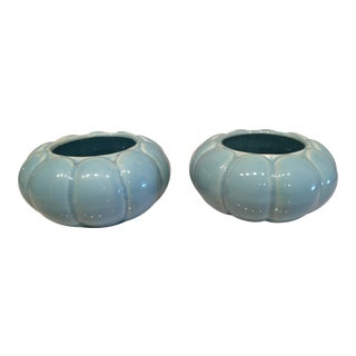 Blue Decorative Bowls - A Pair
