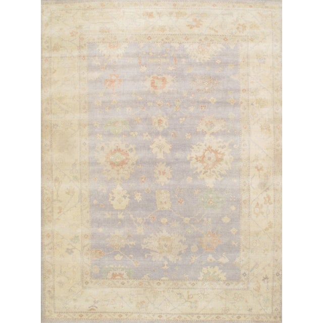 """Image of Hand-Knotted Oushak Rug - 9'2"""" X 12'2"""""""