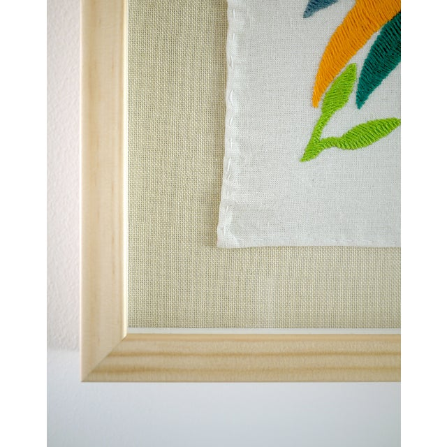 Image of Otomi, Hand Embroidered Fabric Panel, Framed