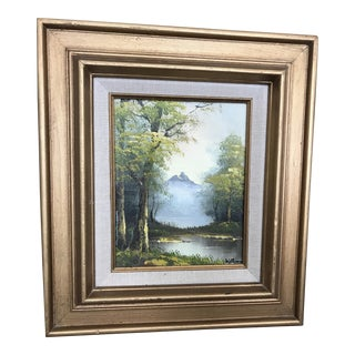 Gold Framed Landscape Oil Painting