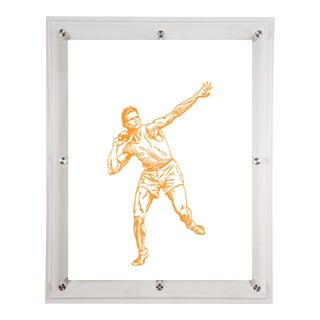 Mitchell Black Home Yellow Shot Put Art