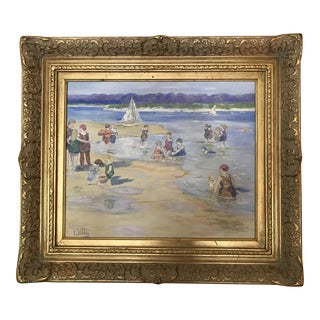 """""""Old Time Swimming"""" Signed Oil Painting"""