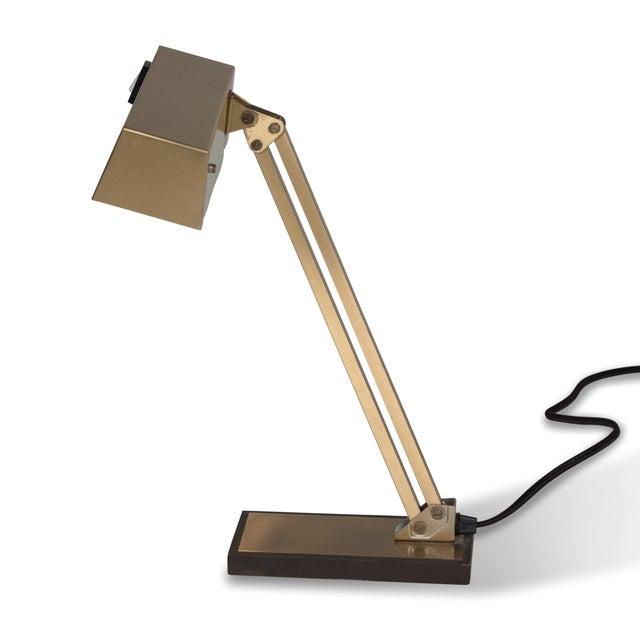 Image of Vintage German 1960s Bronze Pivoting Desk Lamp