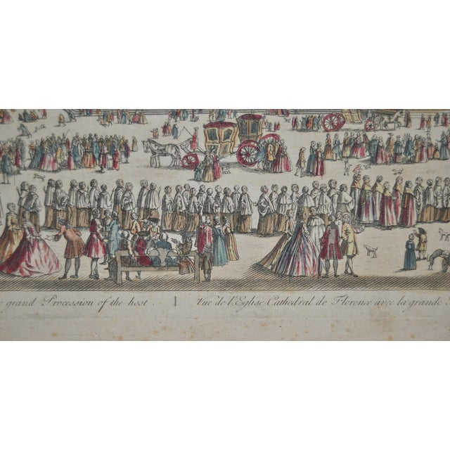 Antique Hand Colored Engraving of Florence, Italy - Image 6 of 8