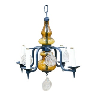 Erik Hoglund 4-Arm Glass Chandelier
