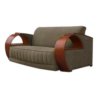 Incredible Art Deco Bentwood Sofa