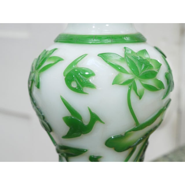 19TH CENTURY PEKING GLASS VASES AS LAMPS - Image 6 of 7