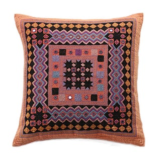 Vintage Hand-Embroidered Pillow
