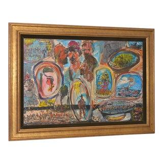 Pascal Cucaro Terrific Vintage Oil Painting c.1970s