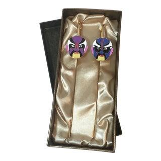 Peking Opera Mask Bookmarks - A Pair