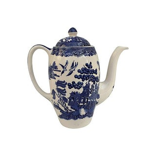 English Blue Willow Coffeepot