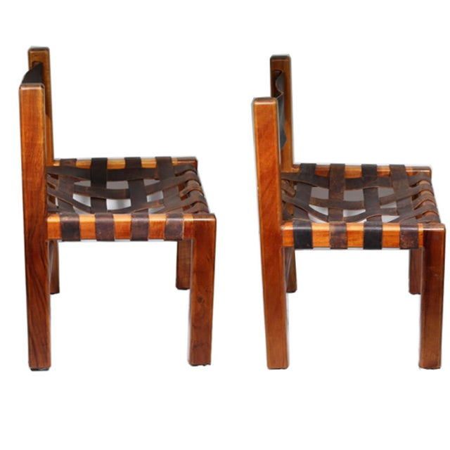 1950s Studio Craftsman Leather Chairs - A Pair - Image 4 of 8