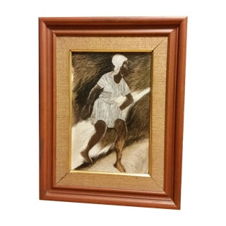 Mid Century Ethnic Outsider Framed Collage